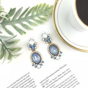"""""""Emma"""" Crystal Blue Drop Statement Earrings"""